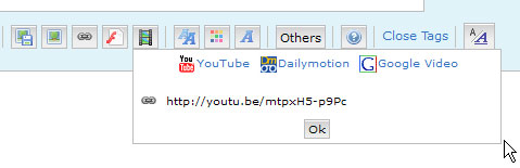 How to post videos from Youtube and Dailymotion Snaps00024-33bab66
