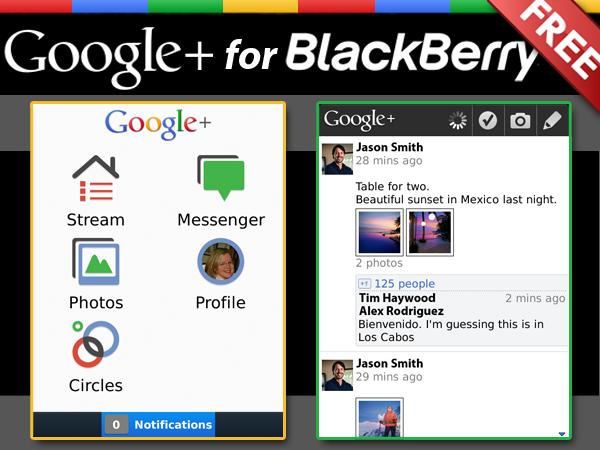 Download Google+ Untuk Blackberry